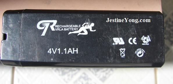 4v 1.1ah battery