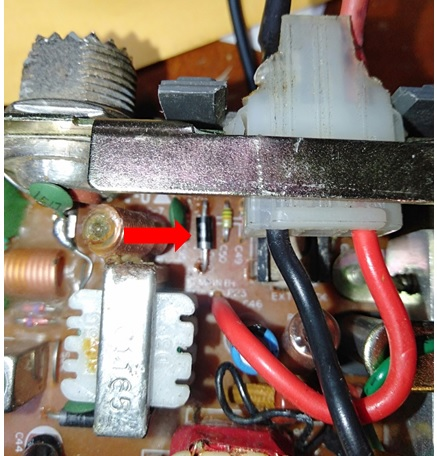 cb radio diode replaced