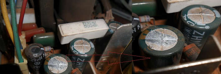 how to repair small width in CRT TV HITACHI