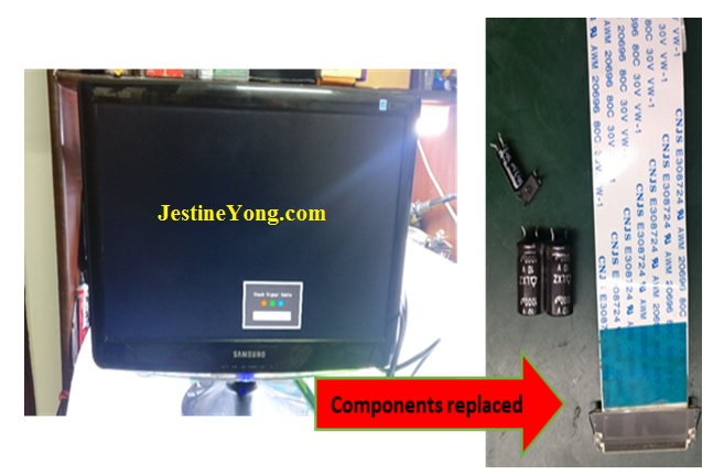 how to fix and repair samsung lcd monitor