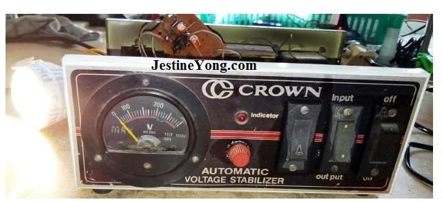 voltage stabilizer fix by India Repairman