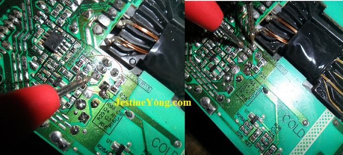 dry joints in power supply of led tv