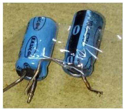 bad capacitor in voltage stabilizer