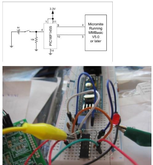 PIC16F1455 USB controller PIC processor
