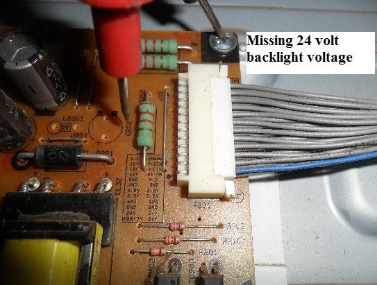 no backlight voltage in lg led tv