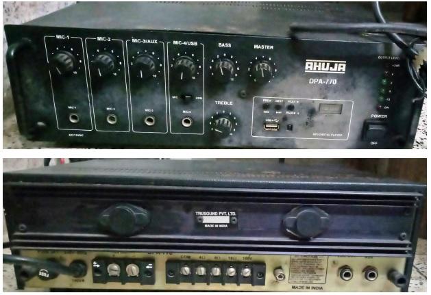ahuja amp repair