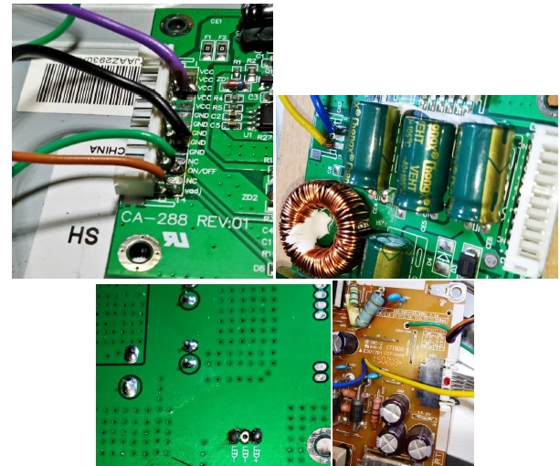 fixing led tv with backlight problem