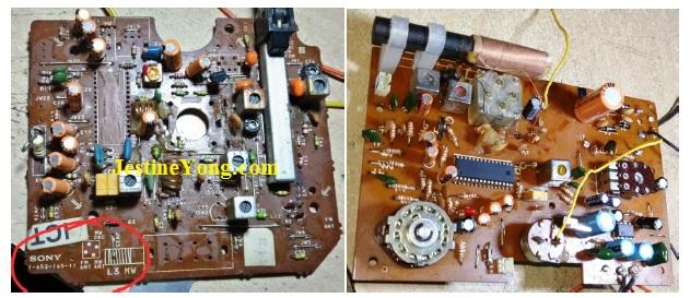 Sony AM FM SCHEMATIC diagram circuit board