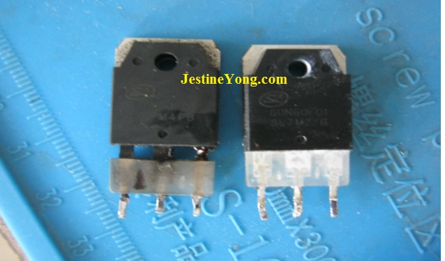 igbt transistor shorted replacement