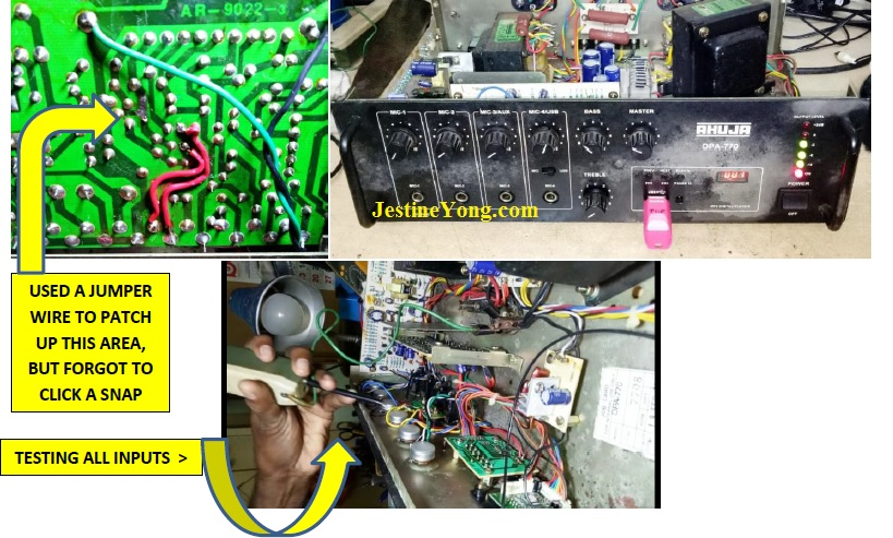 how to fix ahuja amplifier