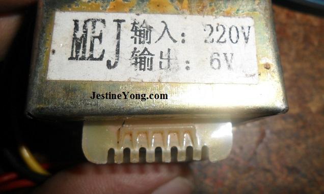 220 volt 6 volt linear transformer