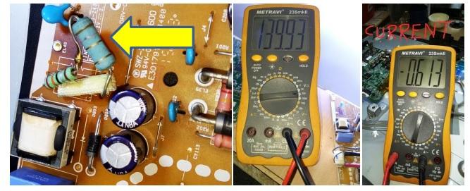 led tv circuit board repair