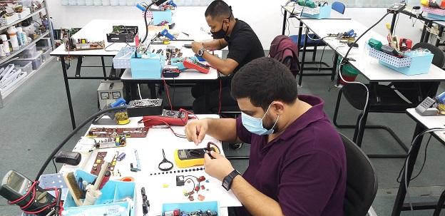 electronic repair course kajang student malaysia
