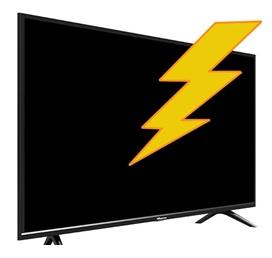 hisense smart tv no power