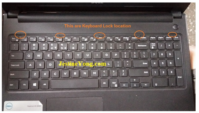 keyboard problem in dell laptop