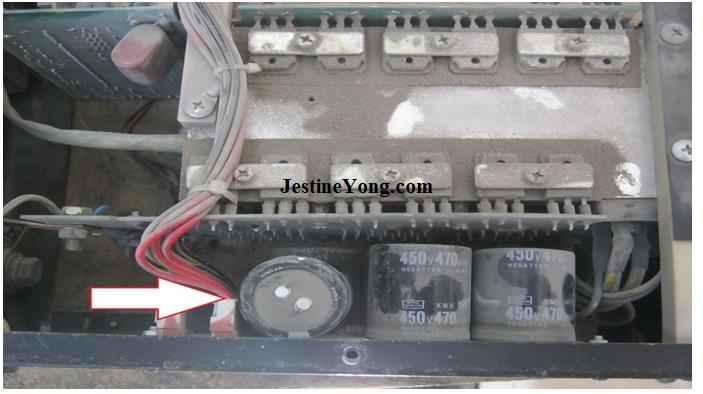bad caps in welding machine