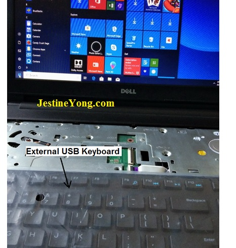 fixing dell laptop keyboard fault