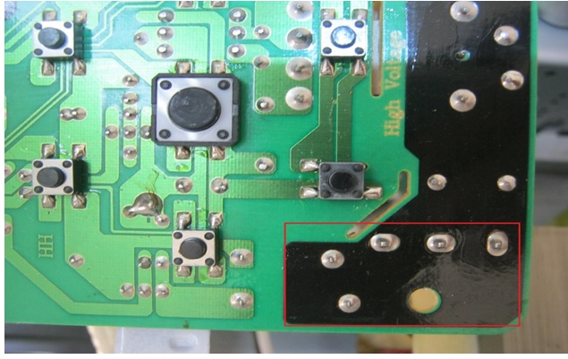 microwave oven board