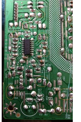 lcd monitor dell circuit  board repair
