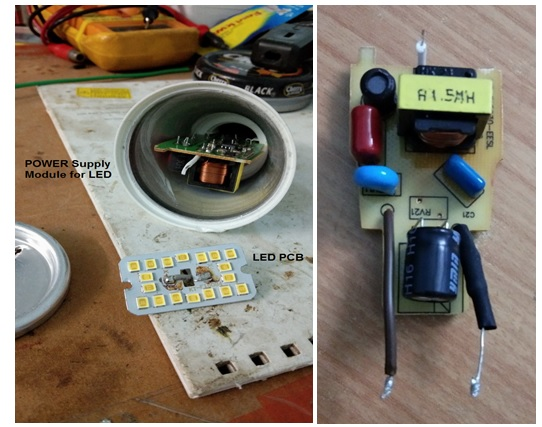 how to repair and fix 9 watt led bulb
