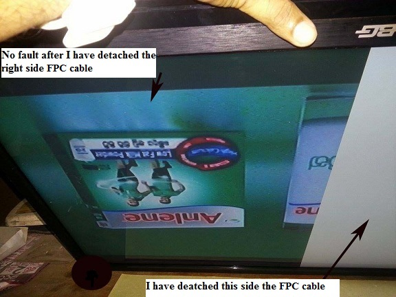 fpc cable in lcd tv picture problem