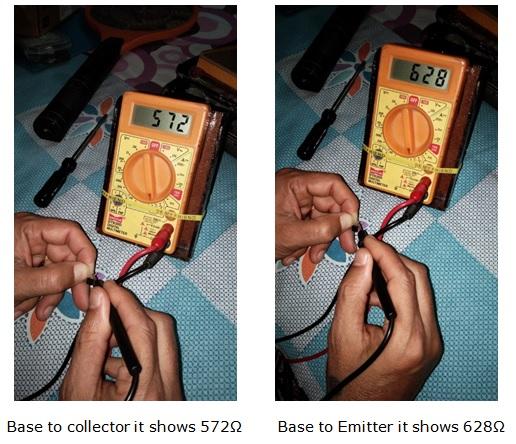transistor reading pattern