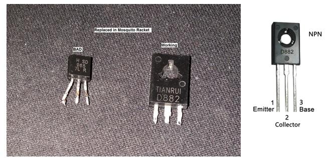 D882 transistor bad
