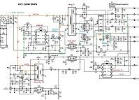 Using Clear Schematic Diagram To Troubleshoot Desktop Computer 400W ATX SMPS