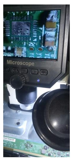 microscope to check on ic