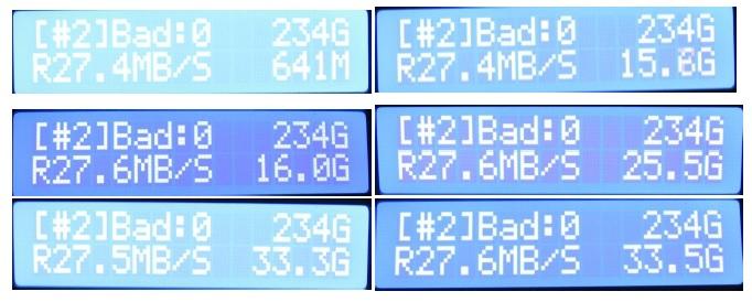 256gb stick result
