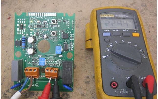 testing water pressure board voltage