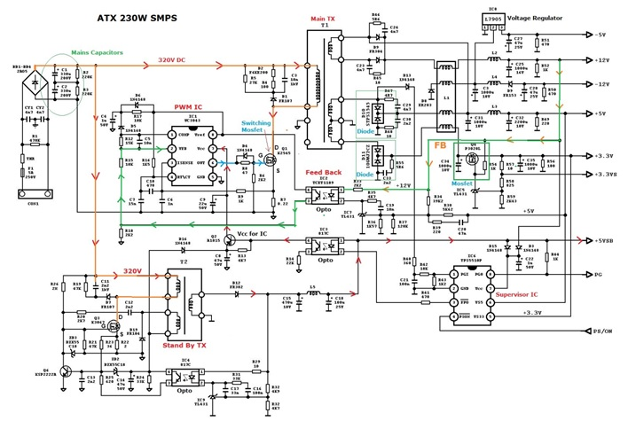 atx schematic diagram