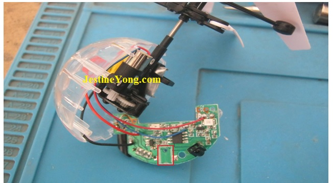 fixing remote control helicopter