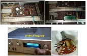 Original Eight Pin Volume Control Replaced In Pioneer Amp Model NO.SA610