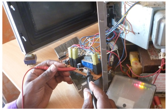 faulty microwave oven transformer
