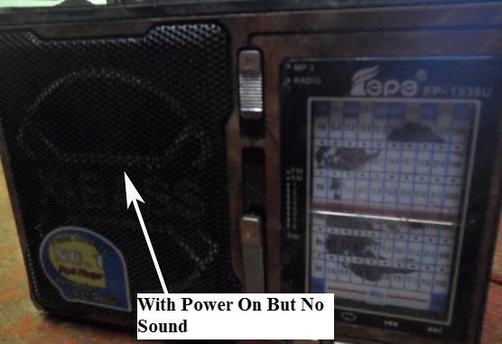 no sound in radio repair