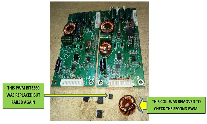 led tv board repair modify and fix