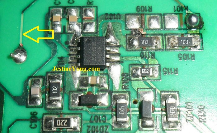 power ic in led tv bad