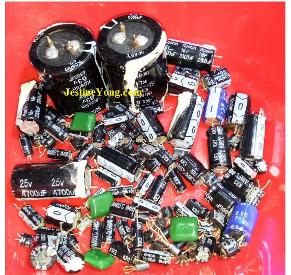 how to troubleshoot amplifier with bad capacitors