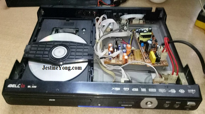 how to service dvd player with bad power supply transformer