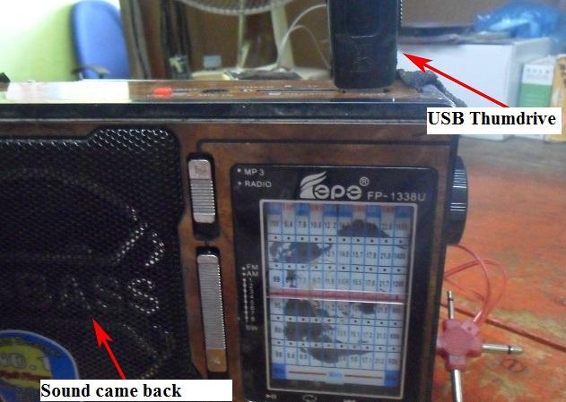 fixing usb radio no power symptom