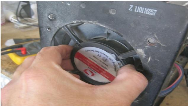 fan replacement in welding machine