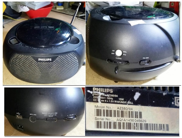 how to fix philips cd player no radio