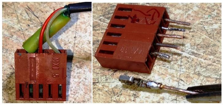 replace broken connector