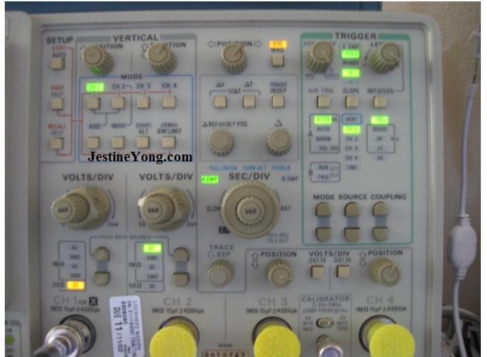 oscilloscope button functions