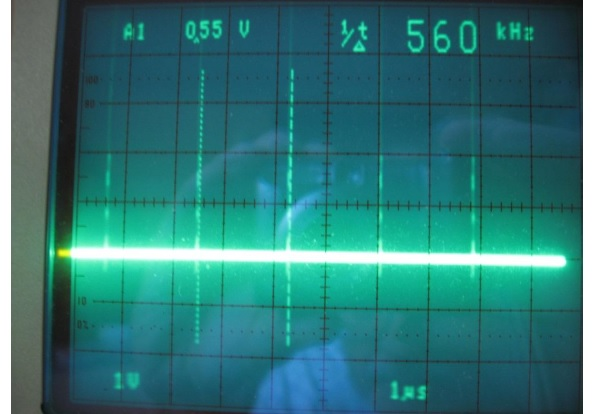 oscilloscope rising edge