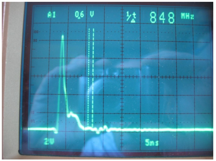 oscilloscope fast rising pulse