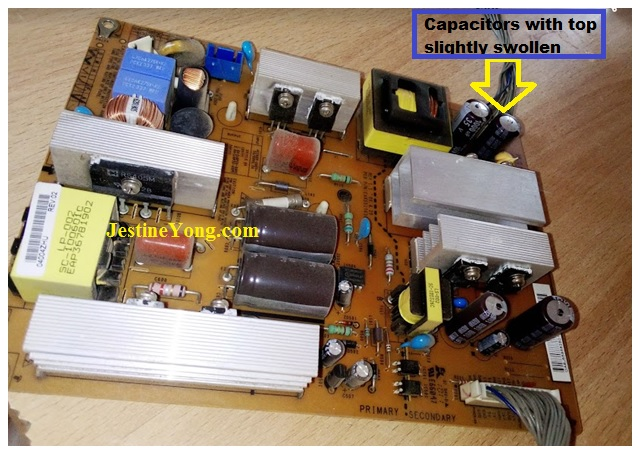 how to repair lcd tv no power