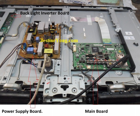 how to repair no power in lg led tv