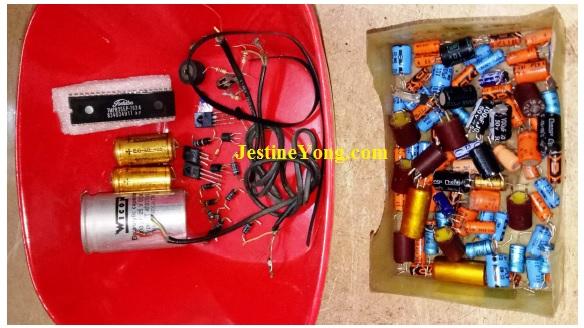 bad capacitors in tape deck